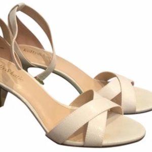 Kelly & Katie White Ivory Ankle Strap Heels